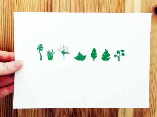 Mini Tropical Leaves