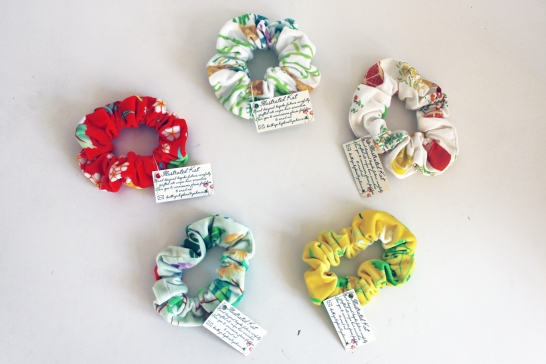 Collection of hand made scrunchies