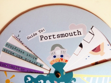Wheel guide to Portsmouth created on a laser cutter.