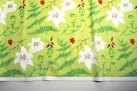 Lillies and ferns fabric
