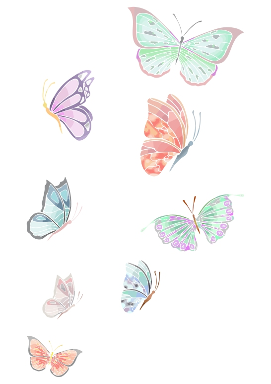 Butterflies Flying Up
